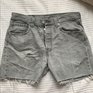 Levi's 501 cut off shorts, distressed size 32